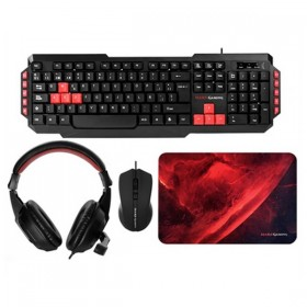 Pack Gaming Mars Gaming (4 Pcs) Black Red