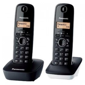Draadloze telefoon Panasonic KX-TG1612SP1 Zwart Wit (2 pcs)