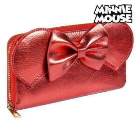Purse Minnie Mouse Card holder Red Metallic