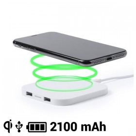 Qi Wireless Charger for Smartphones 2100 mAh USB
