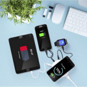 Wireless Qi Charger with USB Ports 3100 mAh
