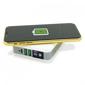Draadloze Power Bank Travelling Charging 4in1 6700 mAh Wit
