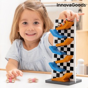 Wooden Track with Ramps for Car Wimai InnovaGoods 4 Pieces