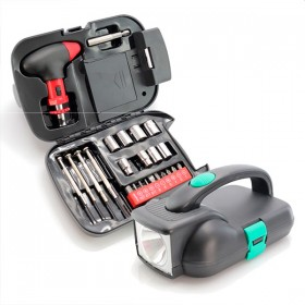 Set of Tools with Integrated LED Torch (24 pcs)