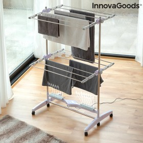 Folding Electric Drying Rack with Air Flow Breazy InnovaGoods