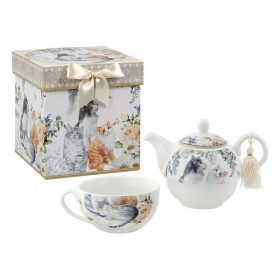Toy Tea Set Tea For One Cats