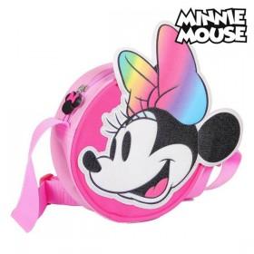 Schoudertas 3D Minnie Mouse Roze