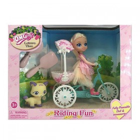 Doll with Pet Riding Fun