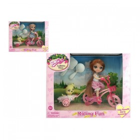 Doll with Pet Leisure Time
