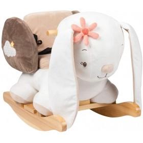 Nattou Bascule Lapin Mia, 10 - 36 Mois, 60 x 39 x 50 cm, Blanc