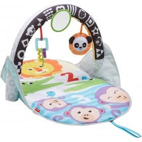 Fisher-Price Tapis d'éveil des animaux 2-en-1 pour bébé, avec