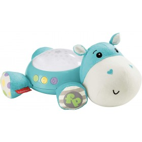 Fisher-Price Hippo Douce Nuit Peluche Veilleuse Bébé, avec