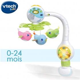 VTech- Mobile TOURNI CUI Baby, Multicolore
