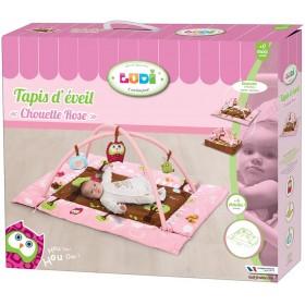"LUDI - Tapis d'éveil ""Chouette"" rose"