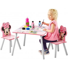Disney Minnie Mouse Table et 2 chaises