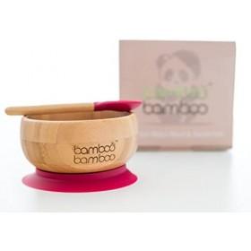 Ensemble bol et cuillère Bambou naturel