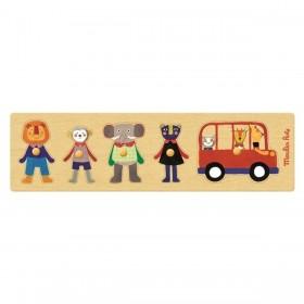 Puzzle Dans le Bus - Les Popipop