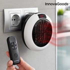 InnovaGoods Mini Ceramic Plug Heater with Remote Control 600W