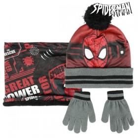 Hat, Gloves and Neck Warmer Spiderman Black (3 Pcs)