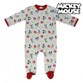 Baby's Long-sleeved Romper Suit Mickey Mouse Grey