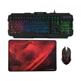 Keyboard with Gaming Mouse Mars Gaming MCP118