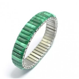 Bracelet extensible malachite