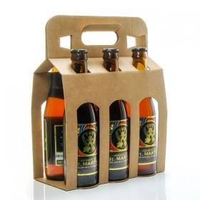 Pack de 6 bières ambrées Double Fermentation Brasserie Michard