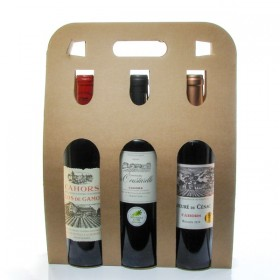Box of 3 Bottles of Cahors Wine 3x75cl