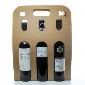 Box of 3 bottles of World Wine 3x75cl