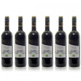 Box of 6 bottles Organic Spanish Red Wine 2017 75cl