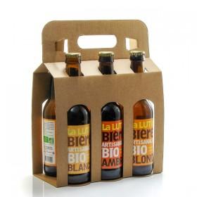 Pack of 6 craft beers from Périgord Brasserie la Lutine