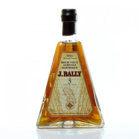 Bally 3 years old rum and its 45 ° 70cl box