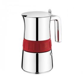 Italian Coffee Pot BRA Elegance Red (10 Cups)