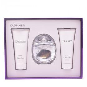 Women's Perfume Set Obsessed For Women Calvin Klein (3 pcs)