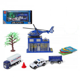 Police Vehicles and Accessories Set