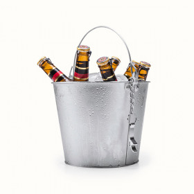 Ice Bucket with Handle and Aluminium Bottle Opener