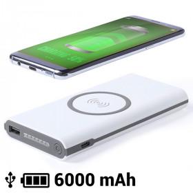 Wireless Power Bank 6000 mAh LED Micro USB