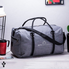 Travel Bag with USB and Shoulder Strap (50 x 30 x 28,5 cm)
