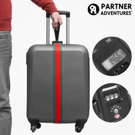 Partner Adventures Luggage Strap with Integrated Weighing Scale