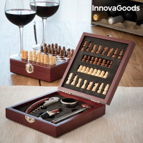 InnovaGoods Wijn- en Schaakset (37 Stuks)