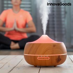 InnovaGoods Wooden-Effect Luchtbevochtiger met Aromatherapie