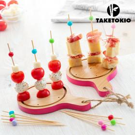 TakeTokio Kleine Plankjes Bamboeset voor Tapas (16 Stuks)