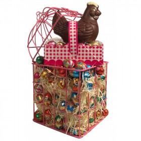 Cage Chocolatée Poule de Pâques
