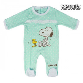 Baby's Long-sleeved Romper Suit Snoopy Turquoise