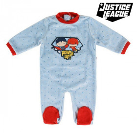 Baby's Long-sleeved Romper Suit Justice League Blue
