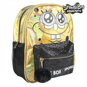 Casual Backpack Spongebob Golden Black