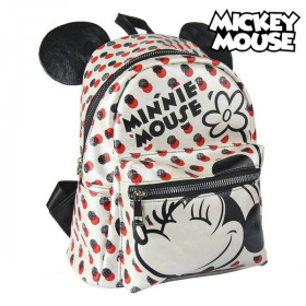 Casual Backpack Minnie Mouse White