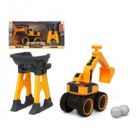 Digger Truck Workers Yellow