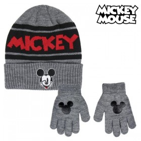 Hat & Gloves Mickey Mouse Black (2 Pcs)